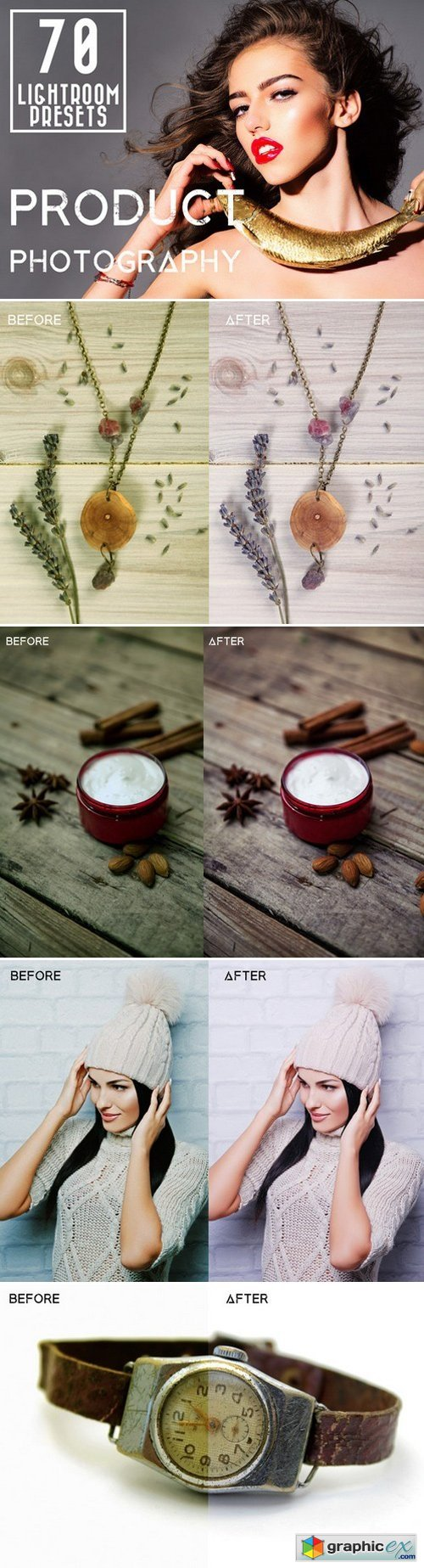 70 Pro Product Photography Presets