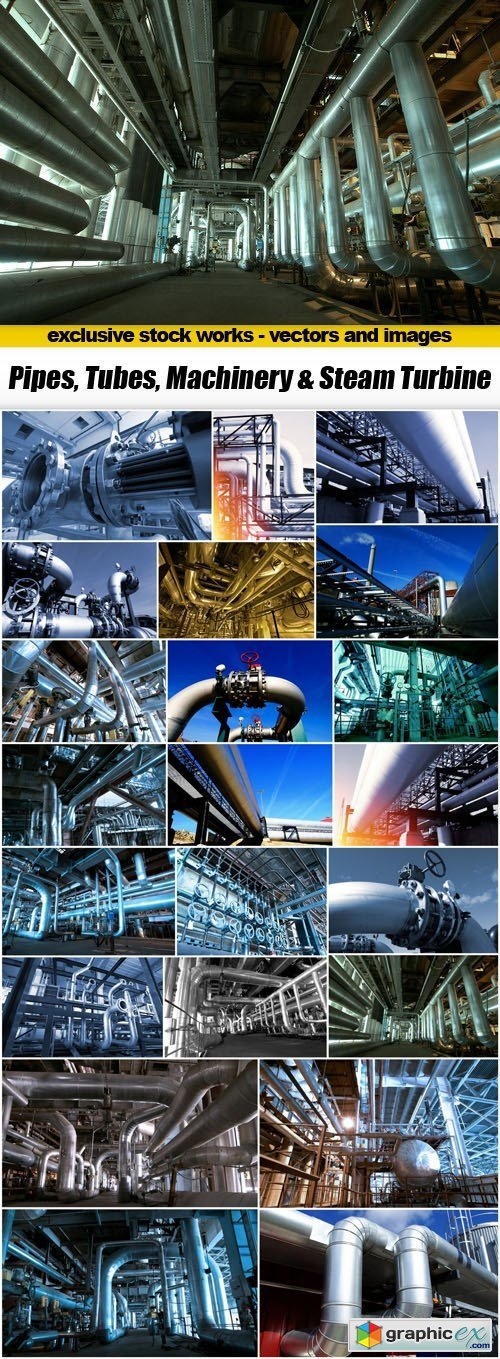 Pipes, Tubes, Machinery & Steam Turbine - 22xUHQ JPEG