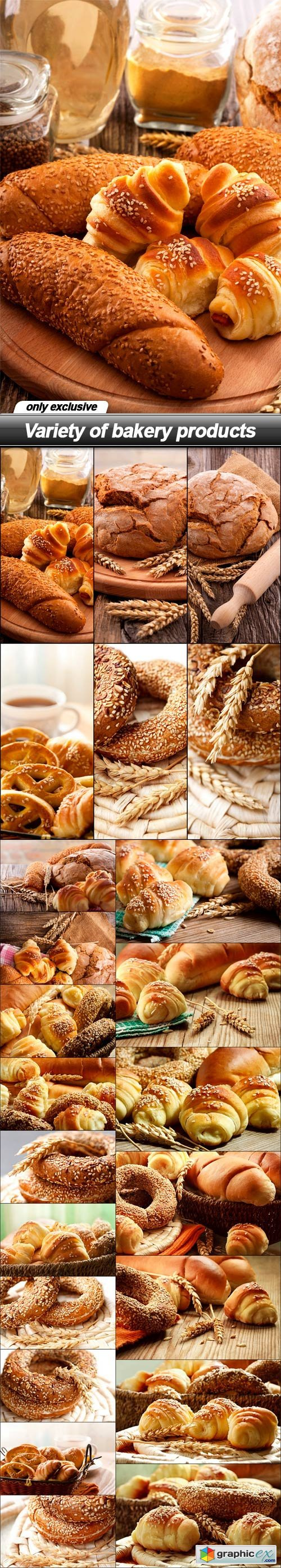 Variety of bakery products - 23 UHQ JPEG