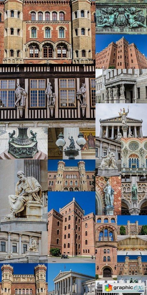 Building of Vienna Arsenal, Historic building. Austria
