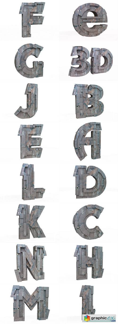 Hi-Tech Letters in 3D