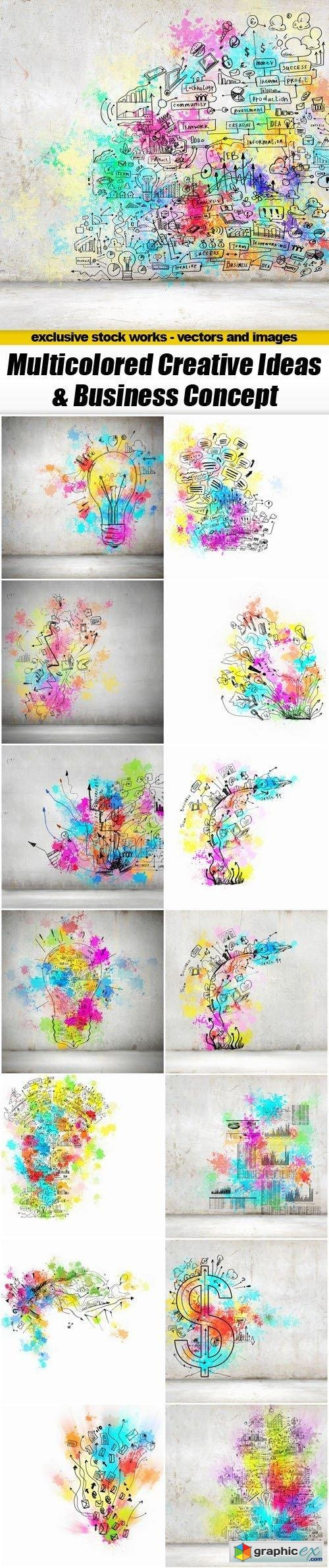 Multicolored Creative Ideas & Business Concept - 15xUHQ JPEG