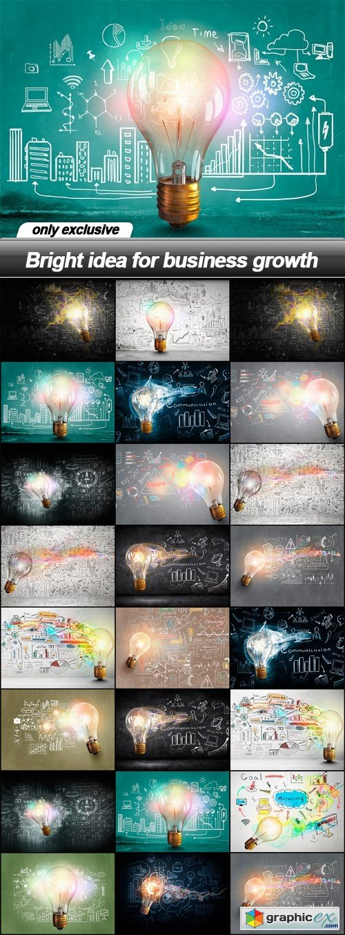 Bright idea for business growth - 25 UHQ JPEG