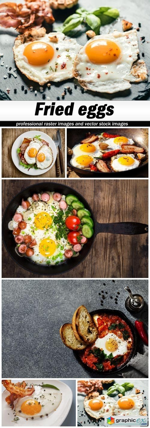 Fried eggs - 6 UHQ JPEG
