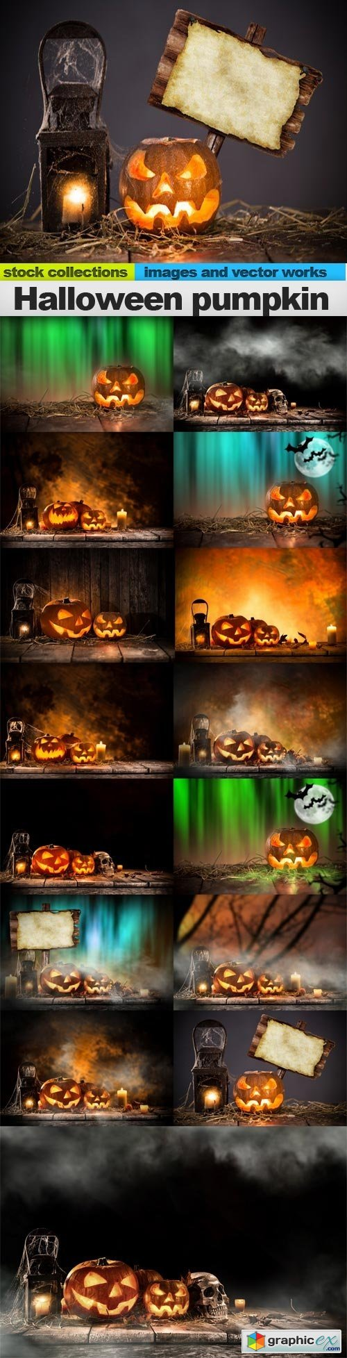 Halloween pumpkin, 15 x UHQ JPEG
