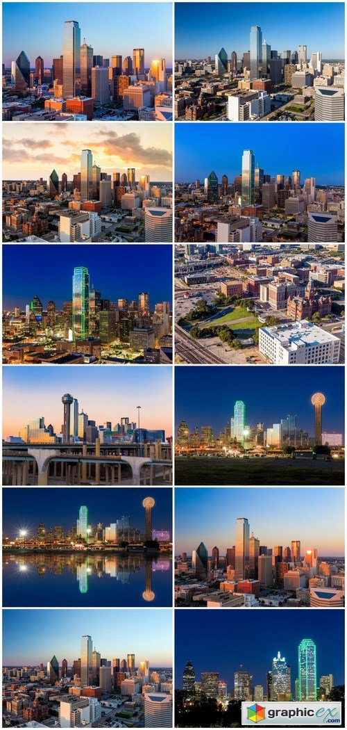 Dallas, Texas Cityscape - 12xUHQ JPEG
