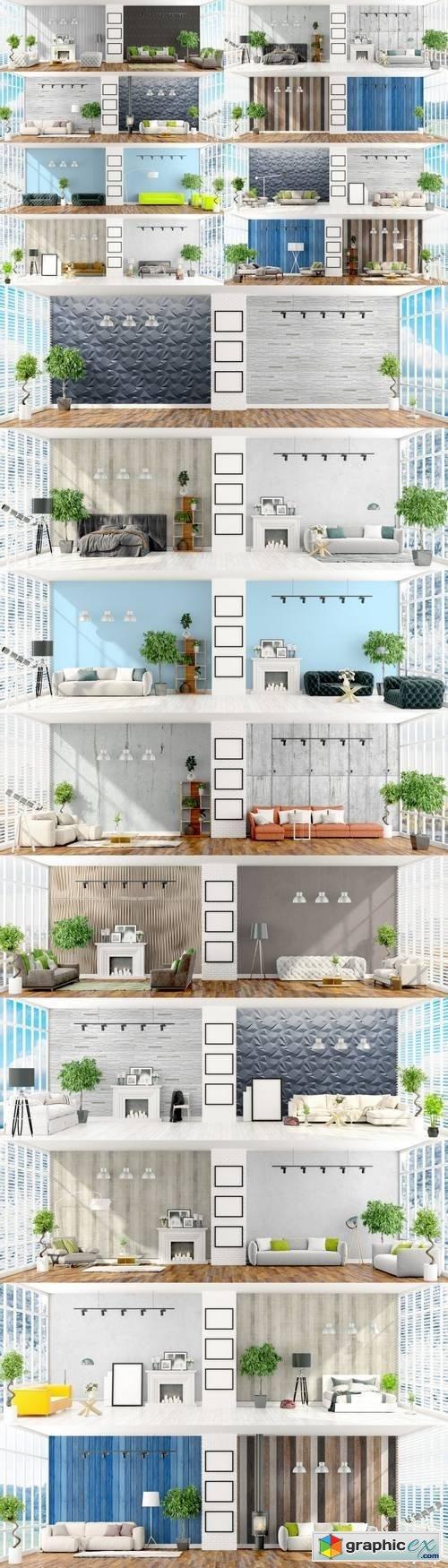 Modern Bright Interior - 3D Rendering