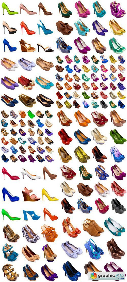 Female footwear collection - 22xUHQ JPEG