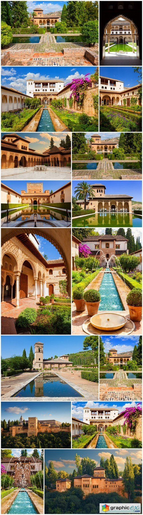 Beauty of Alhambra de Granada - 16xUHQ JPEG