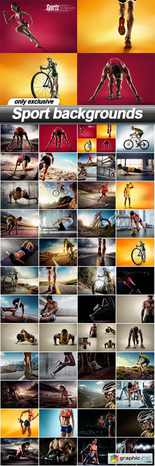 Sport backgrounds - 48 UHQ JPEG