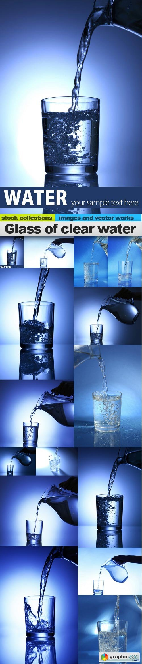 Glass of clear water, 15 x UHQ JPEG