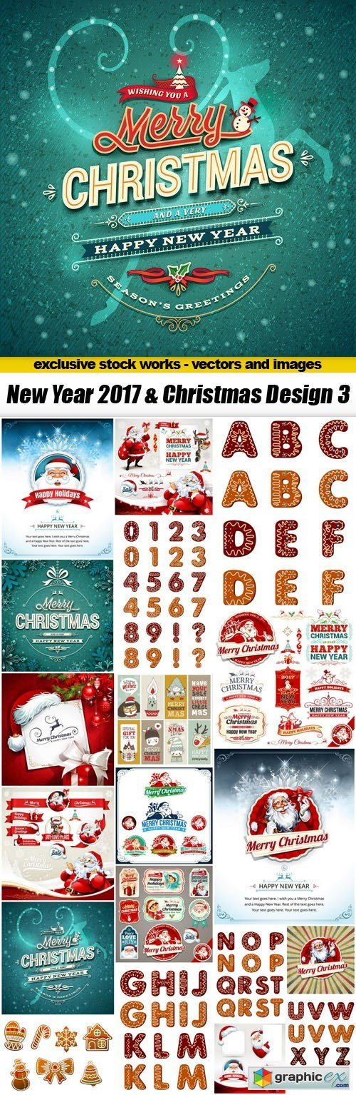 New Year 2017 & Christmas Design 3 - 20xEPS