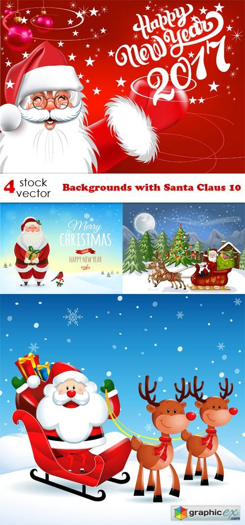 Backgrounds with Santa Claus 10