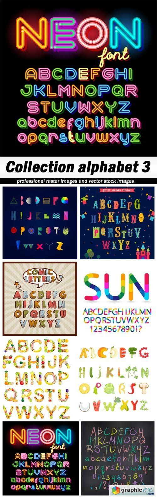 Collection alphabet 3 - 8 EPS