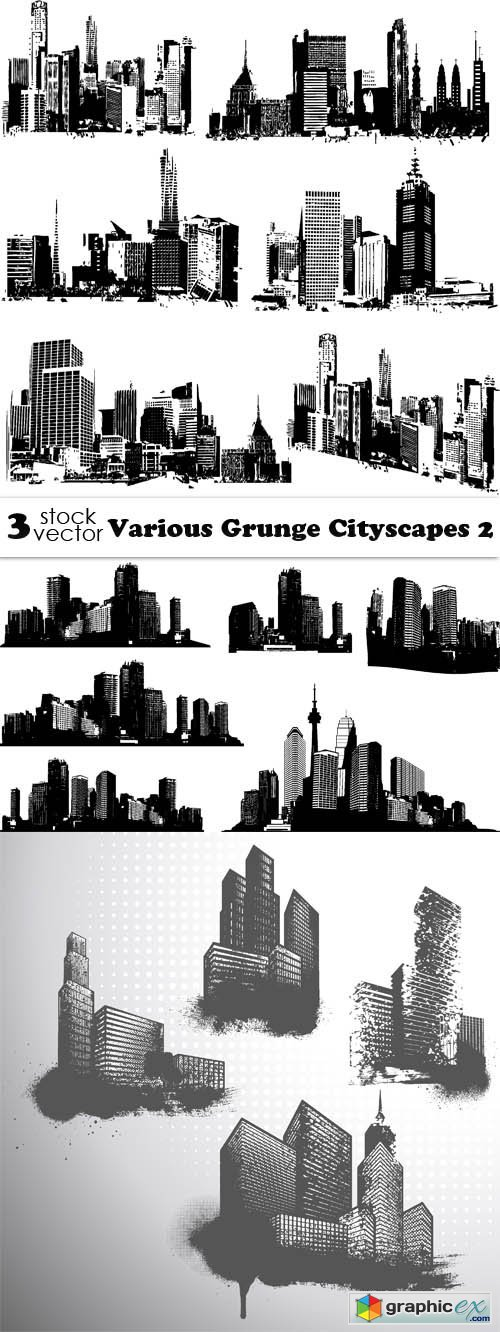 Various Grunge Cityscapes 2