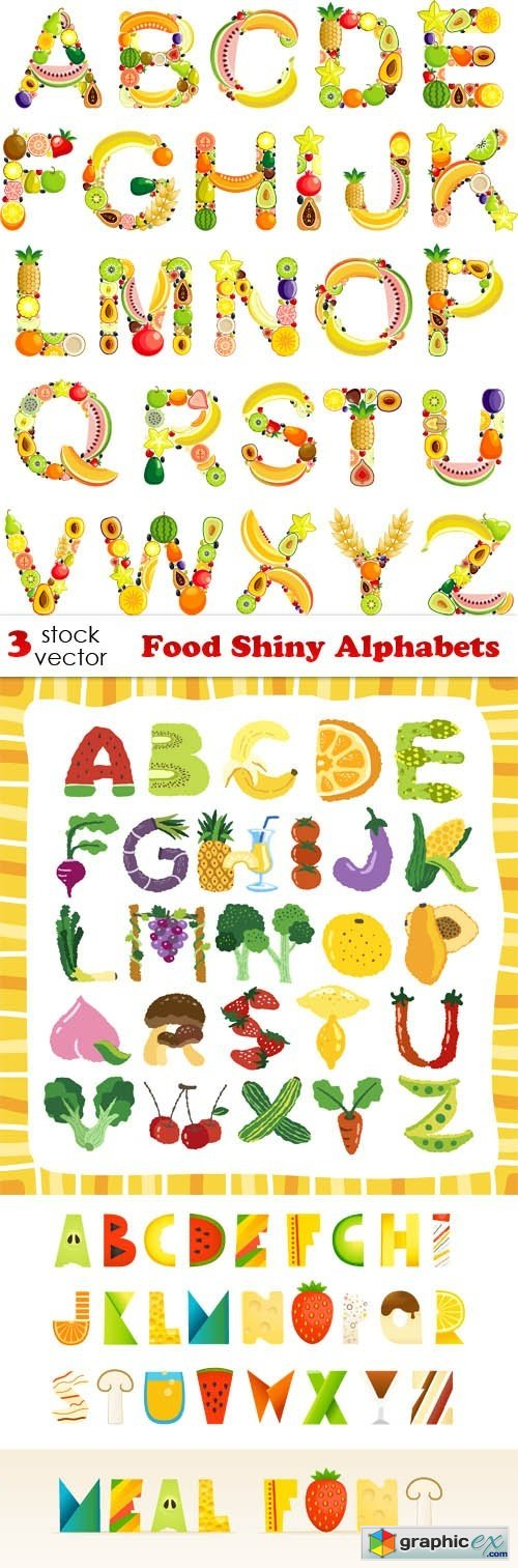 Food Shiny Alphabets