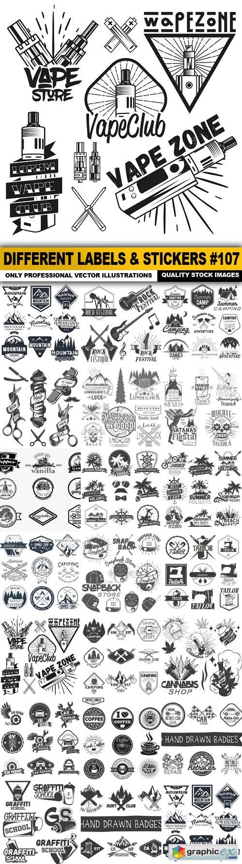 Different Labels & Stickers #107 - 20 Vector