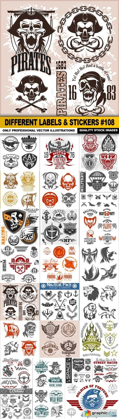 Different Labels & Stickers #108 - 25 Vector
