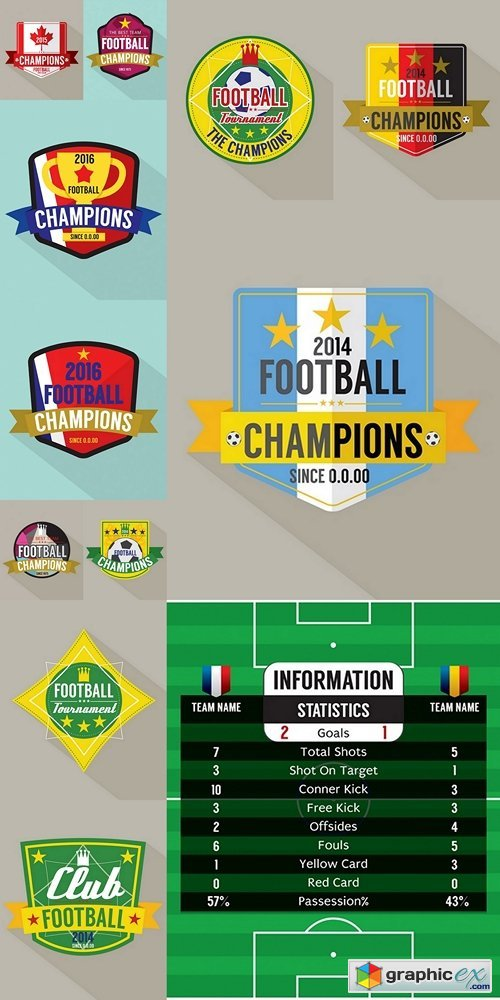 Soccer or Football Champions Badge