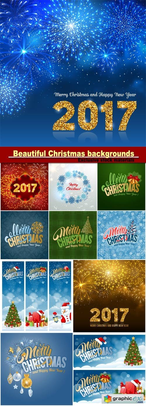 Beautiful Christmas and New Year background