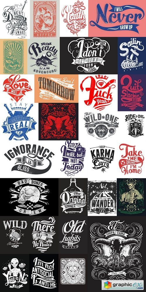 Design T-shirts, logos, brands, abstract vector Vintage vector style