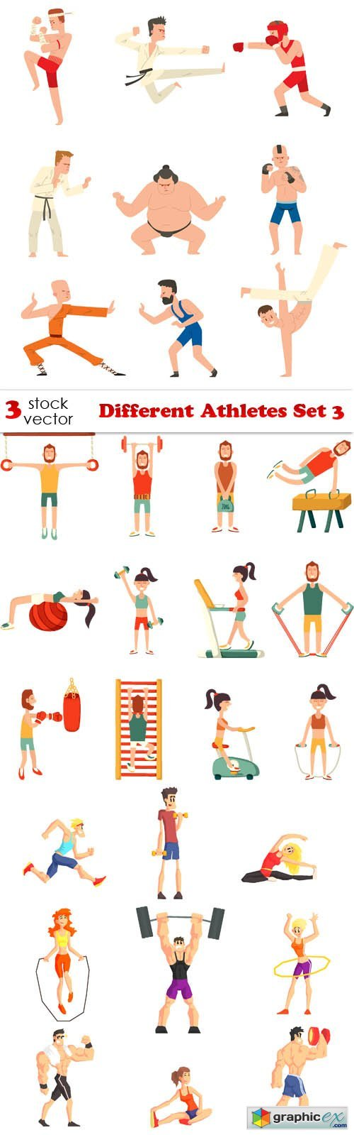 Different Athletes Set 3