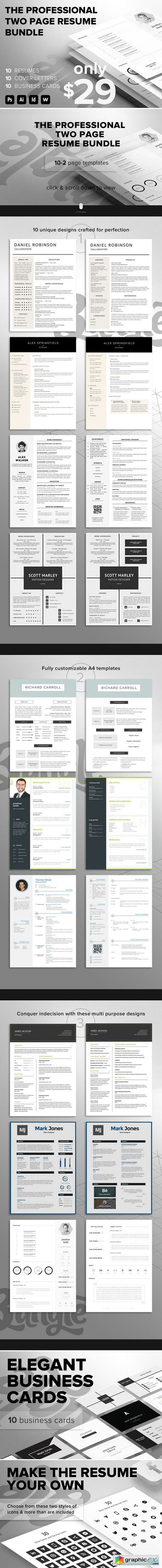 Professional 2 Page Resume Bundle