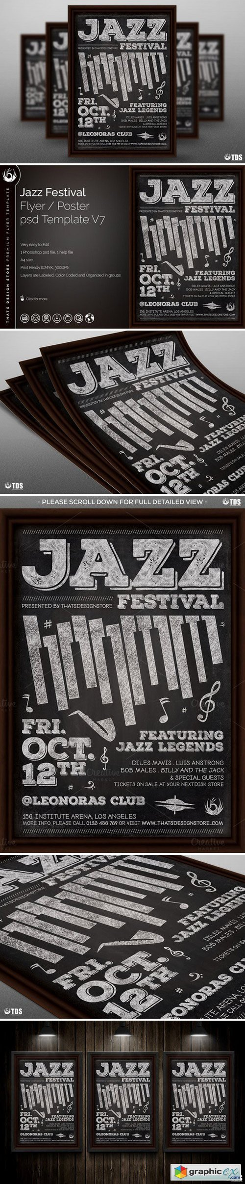 Jazz Festival Flyer Template V7