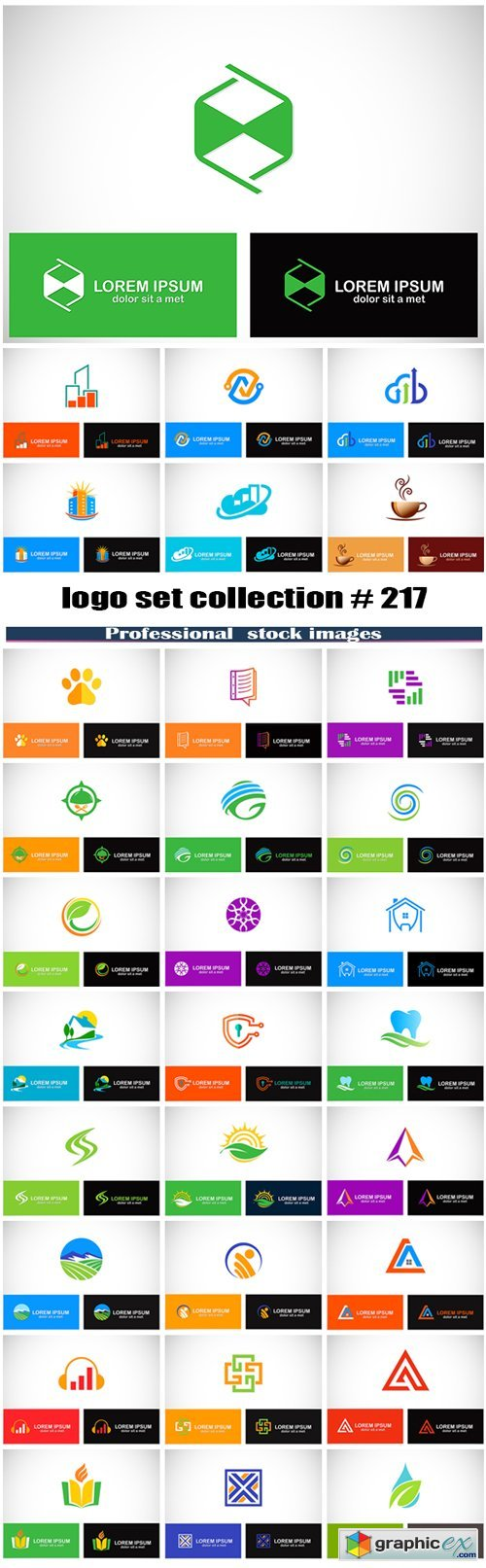 Logo set collection # 217