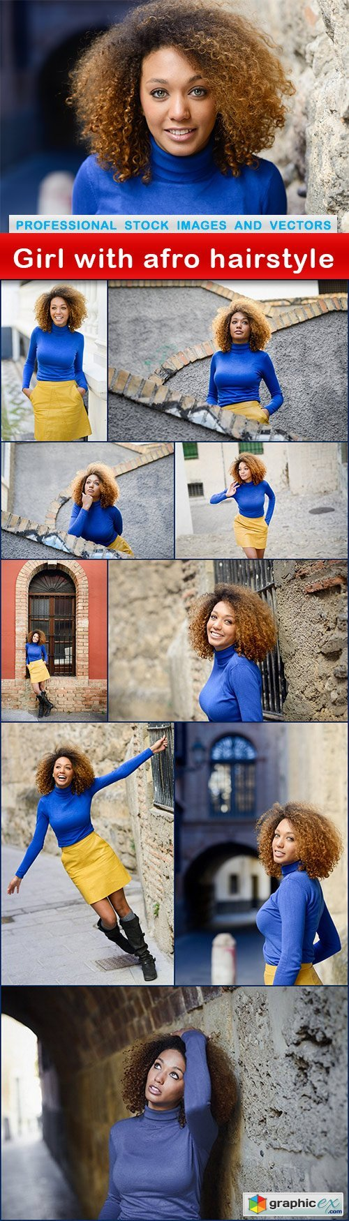 Girl with afro hairstyle - 10 UHQ JPEG
