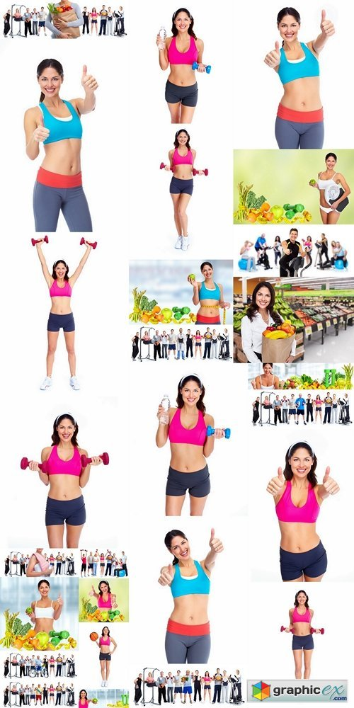Happy healthy fitness woman 2