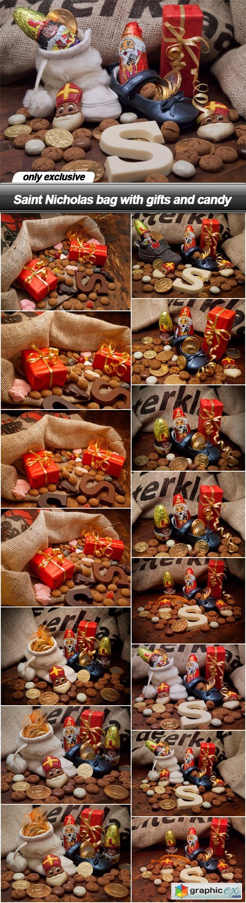 Saint Nicholas bag with gifts and candy - 15 UHQ JPEG