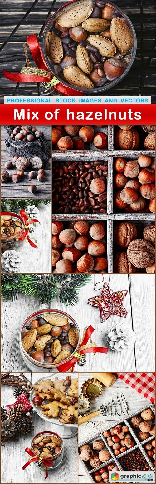 Mix of hazelnuts - 7 UHQ JPEG