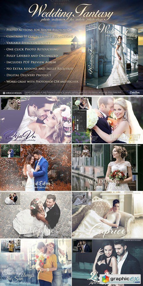 Actions for Photoshop / Wedding