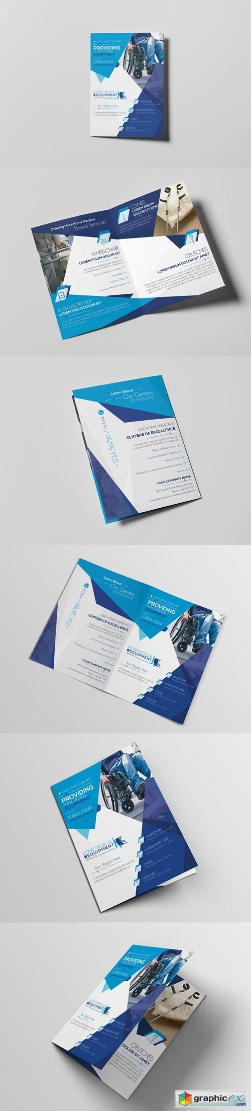Home Medical Equipment/ A5 Brochure Template