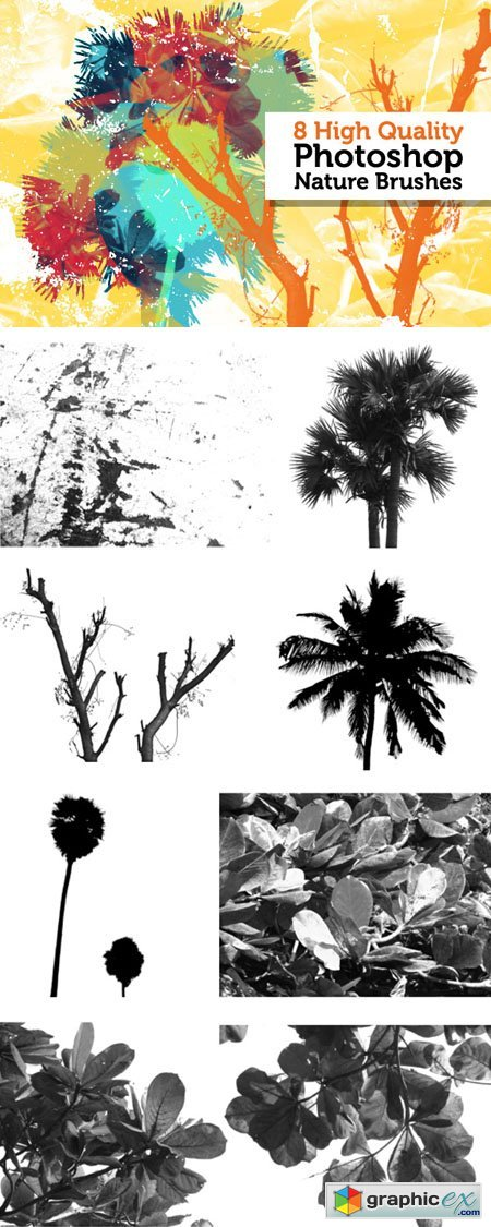 High Quality Nature Brushes for Photoshop (Re-Up)