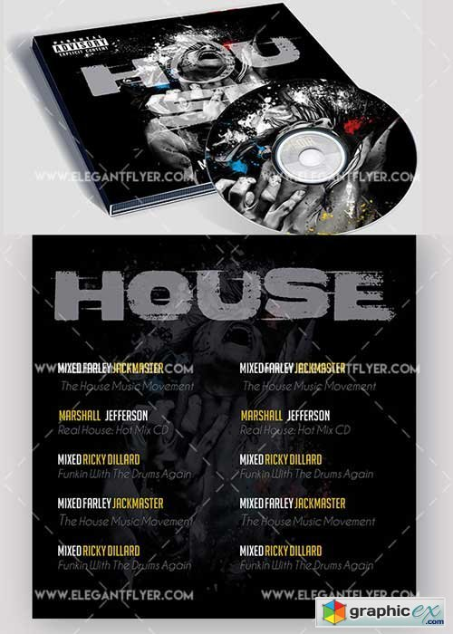 House music Premium CD Cover PSD V5 Template
