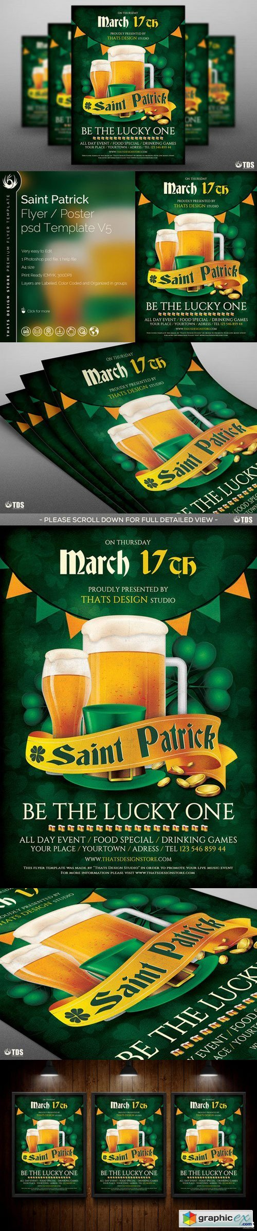 Saint Patricks Day Flyer Template V5