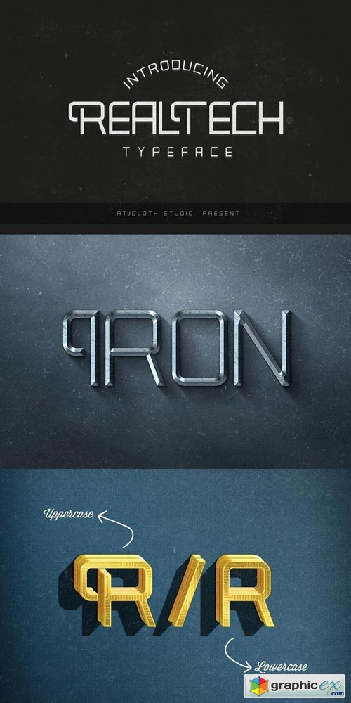 Real Tech Typeface Font Family