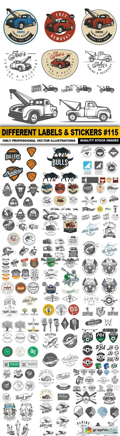 Different Labels & Stickers #115 - 25 Vector