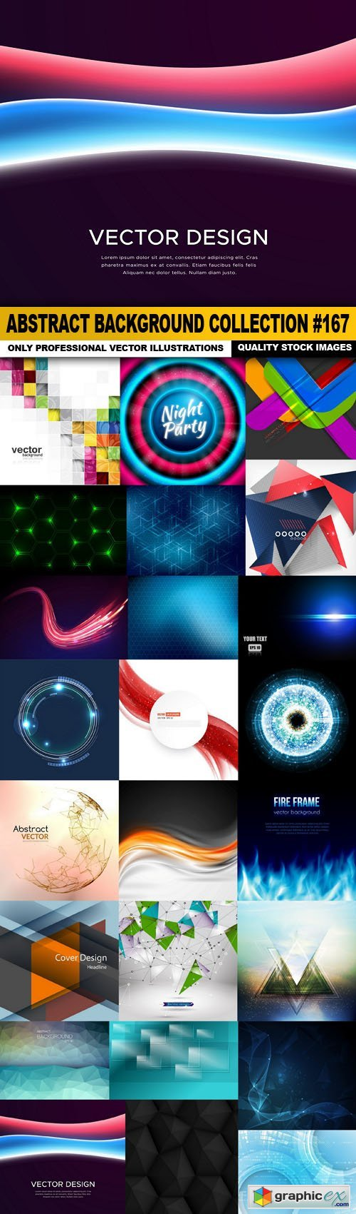 Abstract Background Collection #167 - 25 Vector