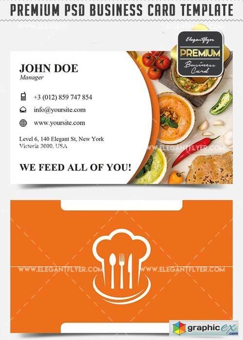 Restaurant v3 business card templates psd free download vector restaurant v3 business card templates psd wajeb Gallery
