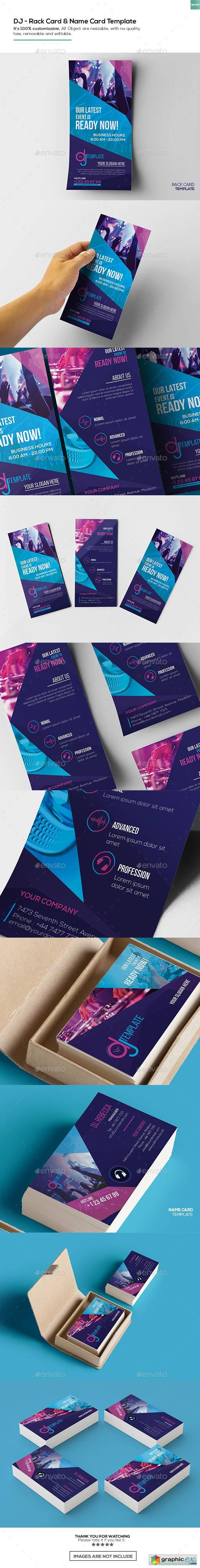 DJ / Rack Card and Business Card Template