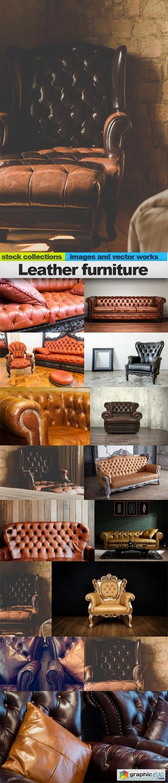 Leather furniture, 15 x UHQ JPEG