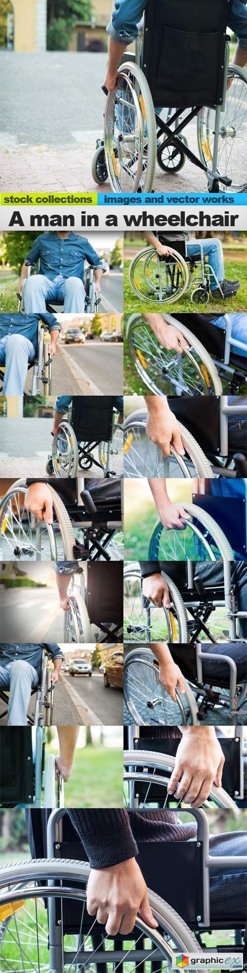 A man in a wheelchair, 15 x UHQ JPEG
