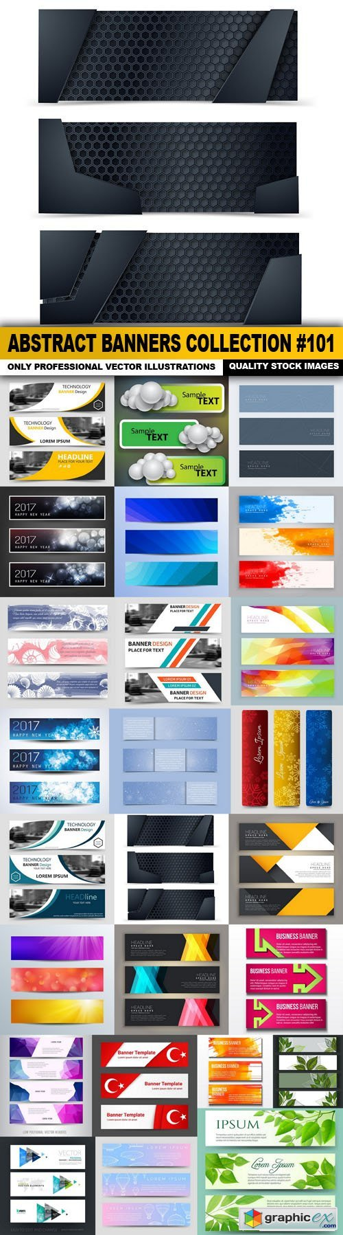 Abstract Banners Collection #101 - 25 Vectors