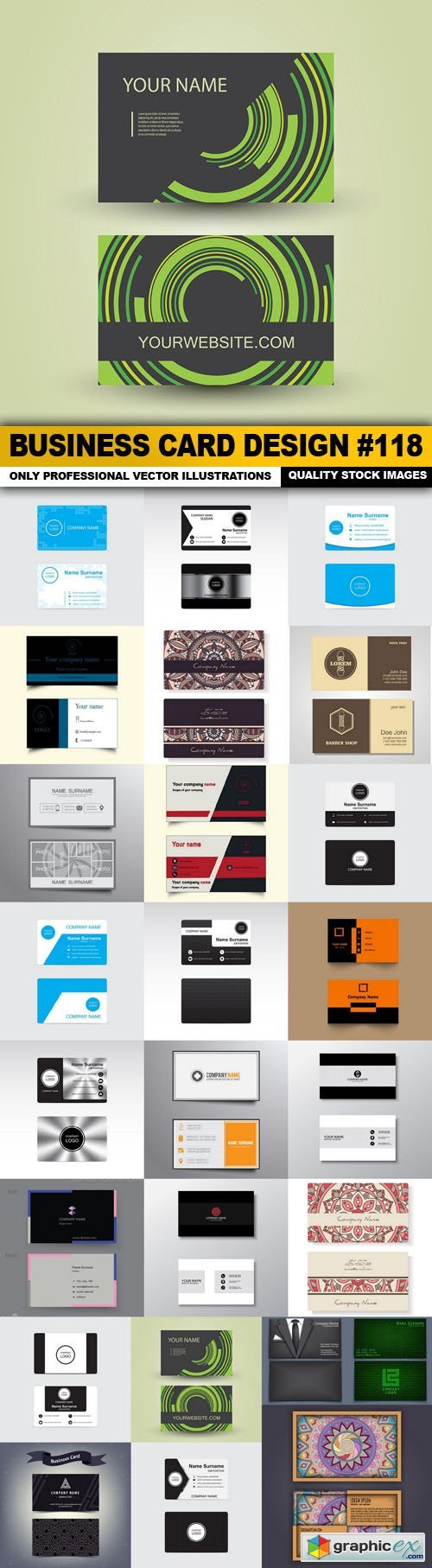 Business Card Design #118 - 25 Vector