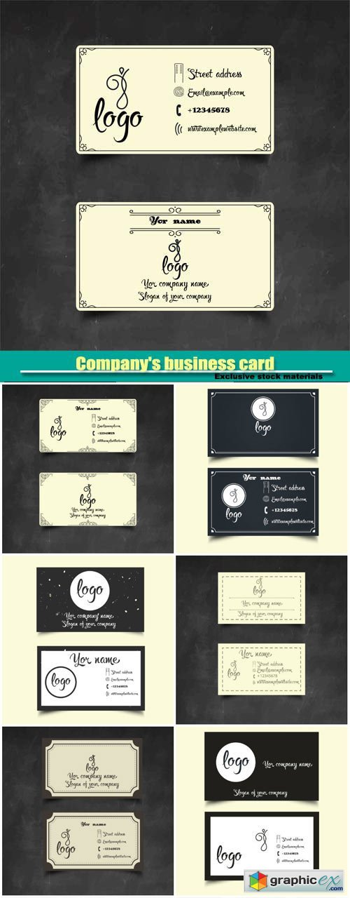 Company's business card in the vector collection