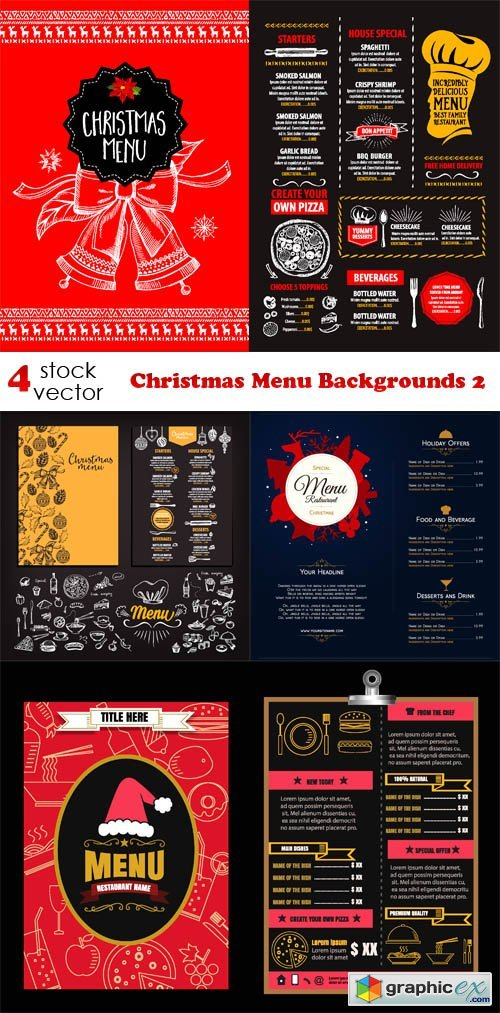 Christmas Menu Backgrounds 2