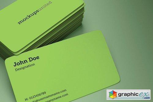 Rounded Corner Business Card Mockup